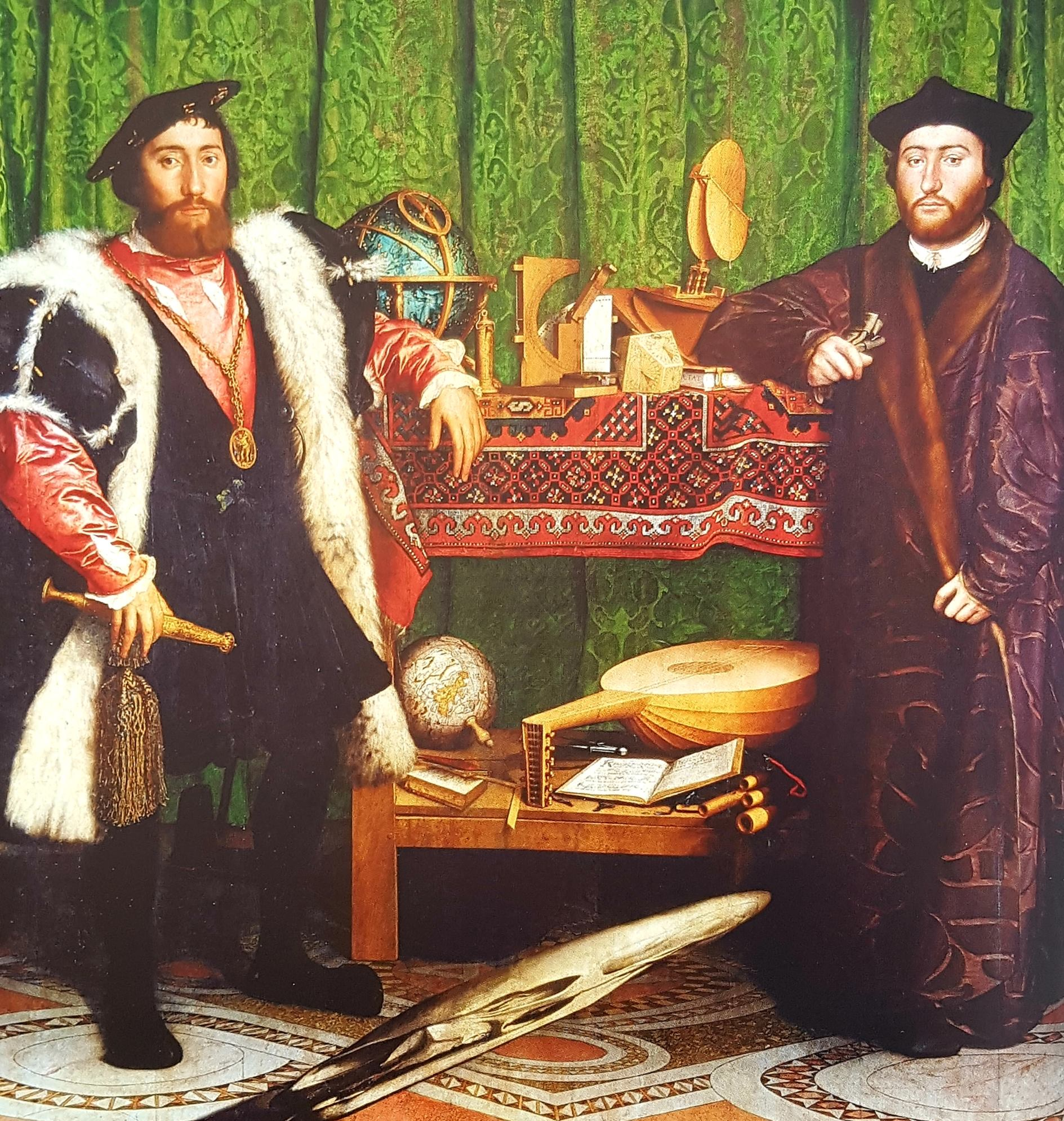 """Les Ambassadeurs"" d'Holbein Le Jeune, 1533"