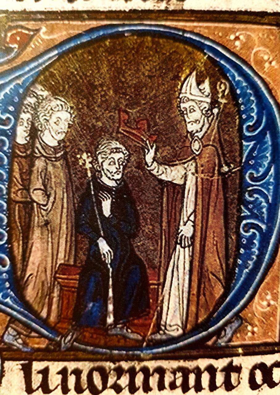 Couronnement du roi Eudes, enluminure des Grandes Chroniques de France