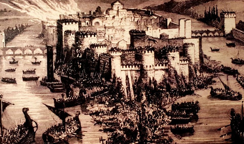 Siège de Paris par les Normands, gravure du XIX siècle