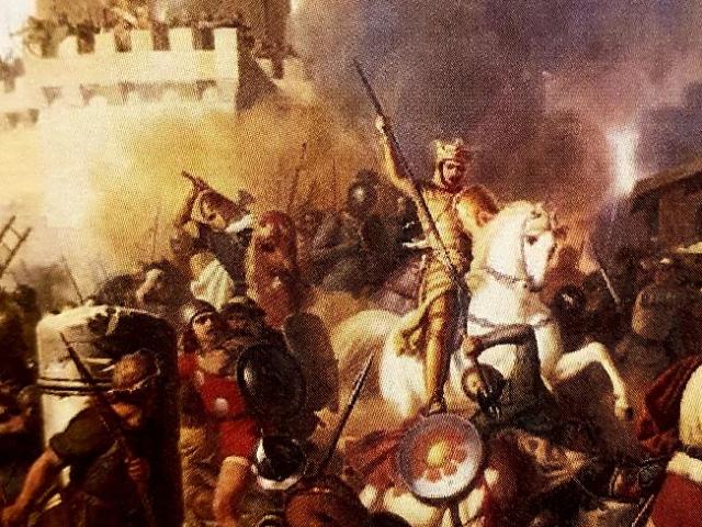 Jean-Victor Schnetz, Le comte Eudes défendant Paris contre les Normands, 1834