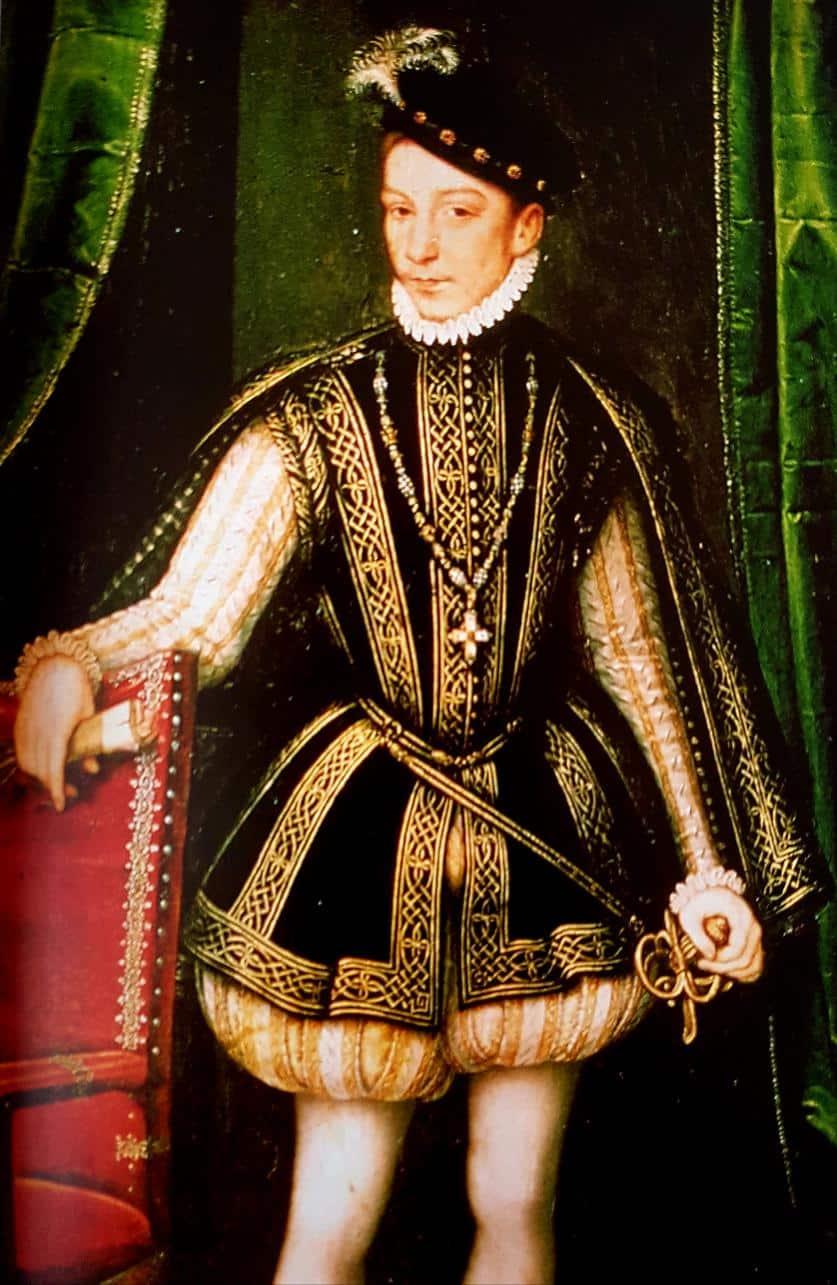 Portrait en pied de Charles IX, atélier de François Clouet, 1560