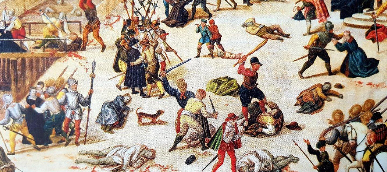 Peinture de massacre de la saint-barthélémy
