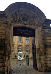 Portail de l'hôtel de Lamoignon, 24, rue Pavée