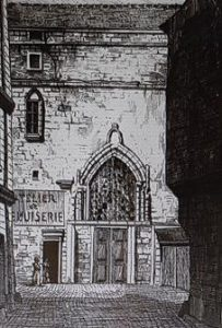 Vestiges de l'église Sainte Marine par Adolphe Martial Potémont