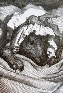 Loup, gravure de Gustave Doré