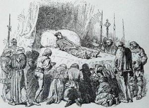 Charles VI le Fou sur le lit de mort / Image tirée de : www.histoire-fr.com